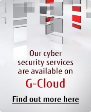 Our cyber security services are available on G-Cloud