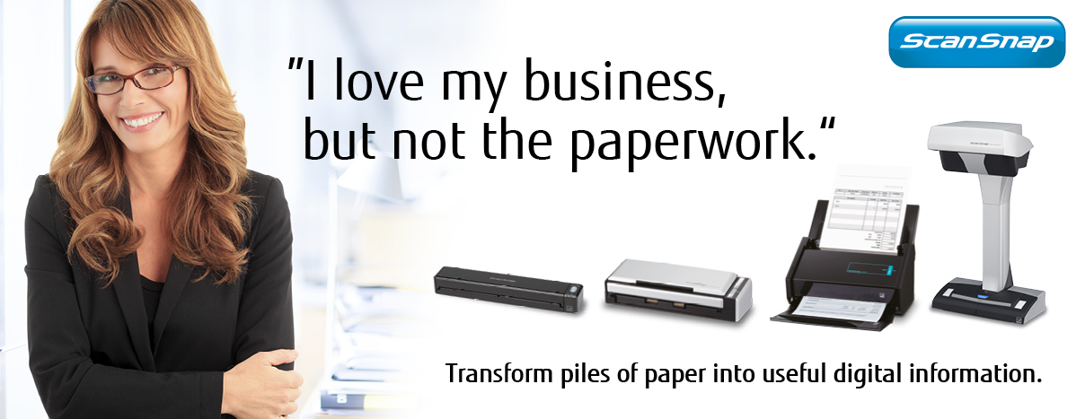 Transform piles of  paper into useful digital information with ScanSnap