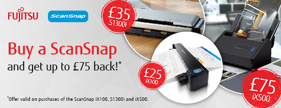 Cashback up to £75  with ScanSnap