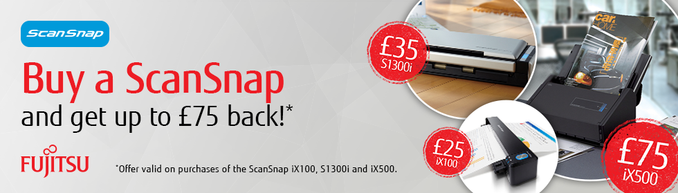 Buy a ScanSnap and get up to £75 back