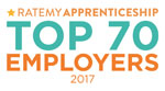 RateMyApprenticeship Top 70 Employers 2017