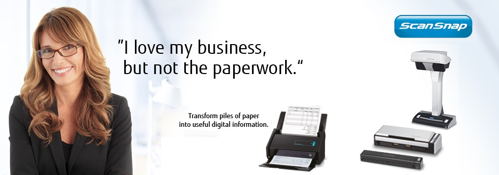 ScanSnap transforms piles of paper into useful digital information
