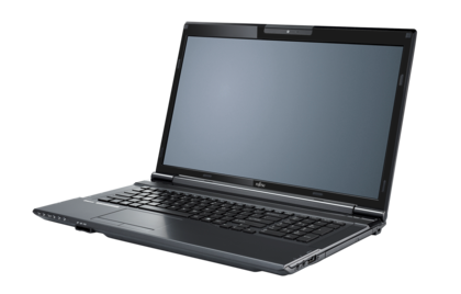 LIFEBOOK NH532 (black), right side, with reflection