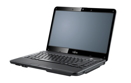 LIFEBOOK LH532 (black), right side, with reflection