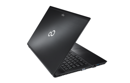 LIFEBOOK AH552/SL, rear view, with reflection