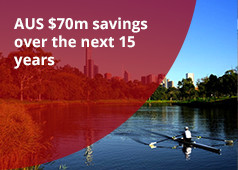 AUS $70m savings over the next 15 years