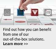 Find out how you can benefit from on of our out-of-the-box solutions.