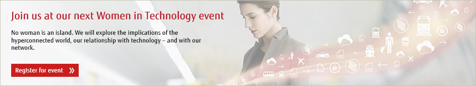 Join us at our next women in technology event