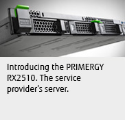Introducing the PRIMERGY RX2510. The service provider's server.