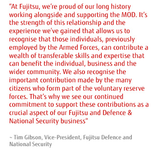 Quote from Tim Gibson, Vice-President, Fujitsu Defence and National Security