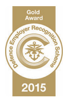 Defence Employer Recognition Scheme - Gold Award 2015