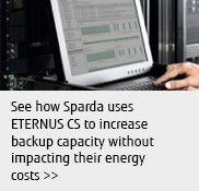 See how Sparda uses ETERNUS CS to increase backup capacity without impacting their energy costs.