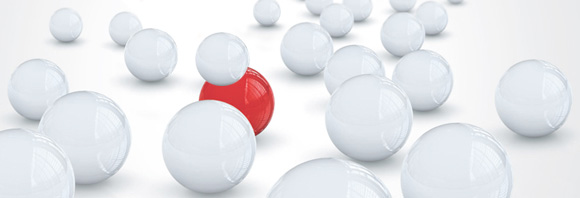 white balls and one red ball