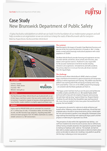 Read the 'New Brunswick Department of Public Safety' case study