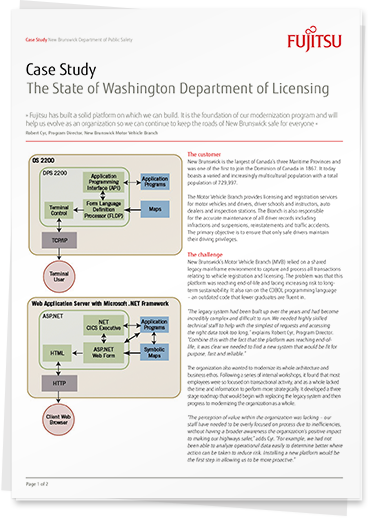 Read the 'The Washington State Department of Licensing: WADOL' case study