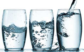 Photo of three glasses of water for Scottish Water