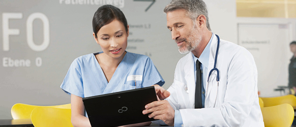 Fujitsu Tablet PCs for Healthcare Industry