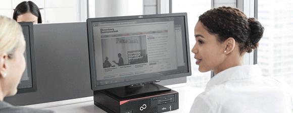 com Workplace with ESPRIMO E and Display 580x224