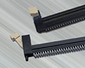 DDR4 DIMM press-fit connector