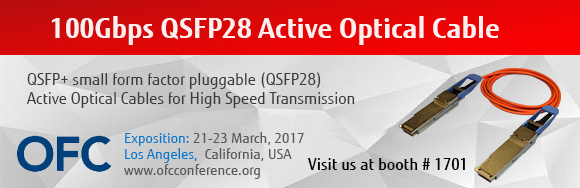 Visit the Fujitsu booth # 1701 at OFC2017, Los Angeles Convention Center, March 21-23, 2017
