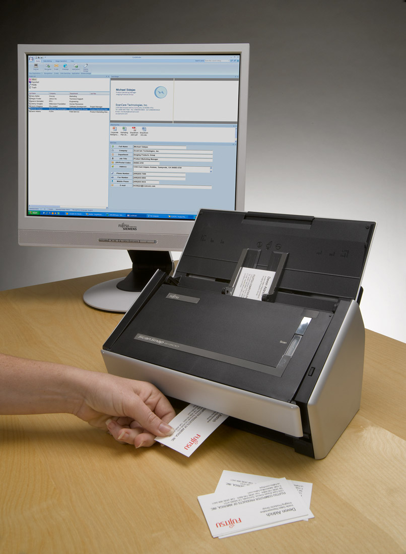 Photos imaging products action shots fujitsu united states scansnap s1500 business card scanning g 161kb colourmoves