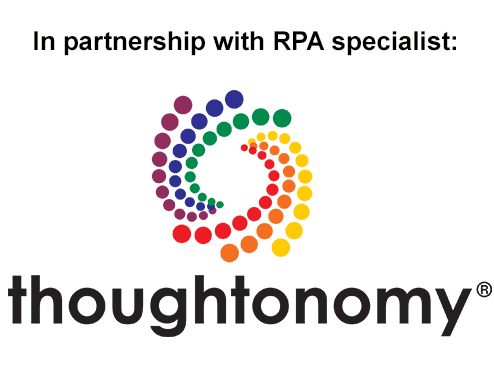 In partnership with RPA specialist: Thoughtonomy