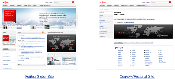 Image: Global web portal and countries / regional web portals